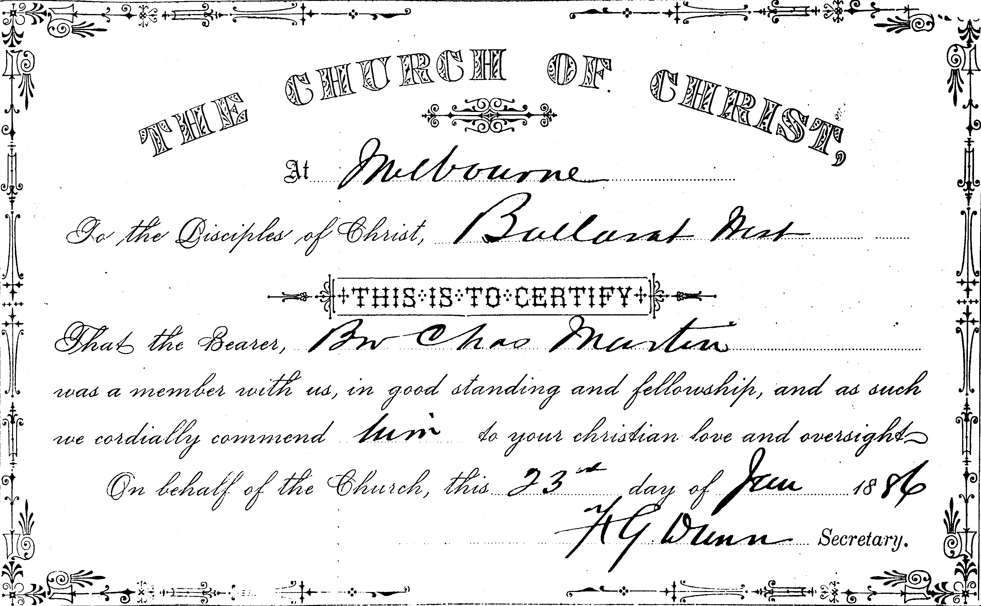1886 church of christ intro letter to ballarat thecheapjerseys Images